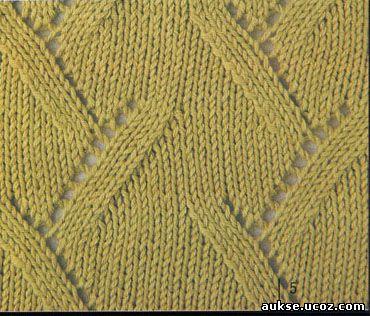 Узоры по вязанию спицами. узор вязания спицами 3. Ажурные узоры.